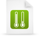 green, file, paper, document icon