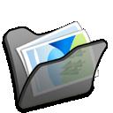 Black, Folder, Mypictures icon