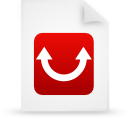 paper, red, file, document icon