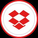 brand, social, dropbox, media, logo icon