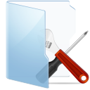 Folder Blue Tools icon