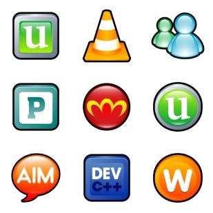 Sleek XP Software icon sets preview