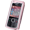 n, Pink icon