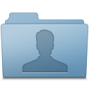 Users Folder Blue icon