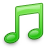 Green, Music, Note icon