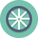 bike wheel, wheel icon
