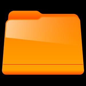 generic, folder, orange icon