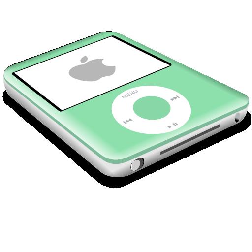 green, nano, ipod icon