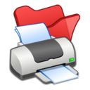 folder,red,printer icon