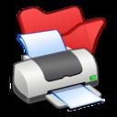 folder,red,printer icon