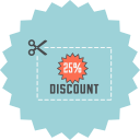 coupon, save, discount, voucher, ecommerce, cut, price icon