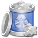full, recycle, bin icon
