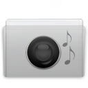 folder,music,graphite icon