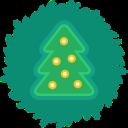 tree, xmas, wreath, christmas icon