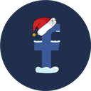 christmas, social, facebook, snow icon