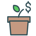 Growing money icon