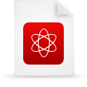 file, document, paper, red icon