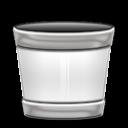 recycle bin, trash, empty, blank icon