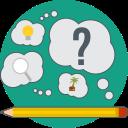 pencil, creative idea, creative, think, search, idea icon