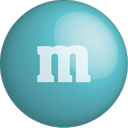 chocolate, colour, turquoise, m&m, color icon