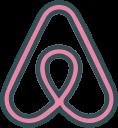 airbnb, logo, social, brand, network icon