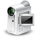 camcorder, cam, webcam, unmount icon