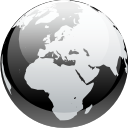 earth, internet, browser, globe, world, black and white, planet icon