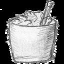 bin,full,garbage icon
