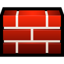 firewall, brick, shield, protect, safety icon