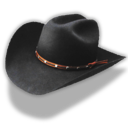 hat,cowboy,black icon