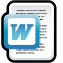 microsoft, paper, file, document, word icon