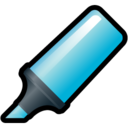 highlighter,blue icon