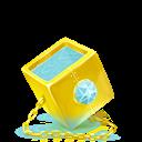 Cube, Golden icon