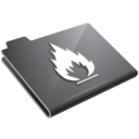 flame,grey icon