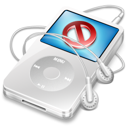 ipod, close, no, cancel, video, stop, white, disconnect icon