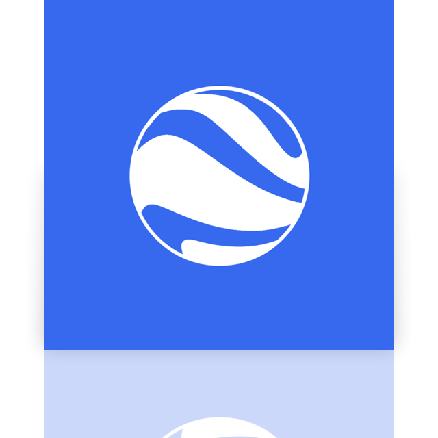 google, earth, mirror icon