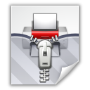 zipped, packed, printer icon