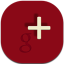 Flat, Google, Plus, Round icon