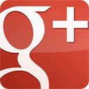 googleplus, red, gloss icon
