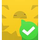 accept, process icon