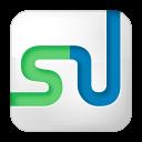 social stumbleupon box white icon