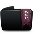 Asp, Black, Folder icon