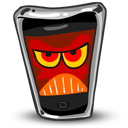 angry, mobile phone, iphone, smartphone, cell phone icon