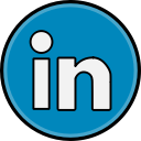 linkedin, social, media icon