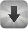 downloads,metal icon