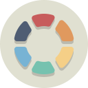 palette, swatch, color wheel icon