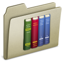lightbrown, library icon