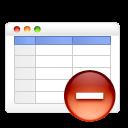 table remove icon