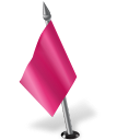 Map Marker Flag 2 Left Pink icon