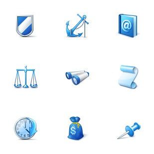 Blue icon sets preview